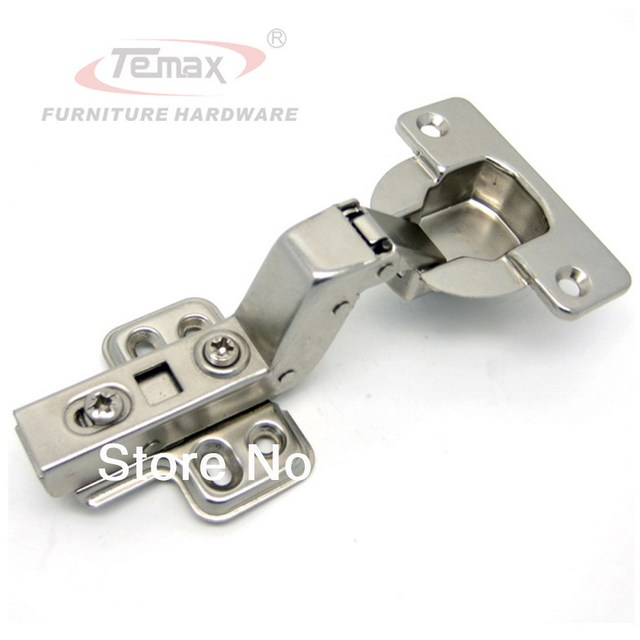 50pcs 40mm Cup Clip-on Hydraulic Concealed Hinge Cainbet Hinges Door Furniture Hardware
