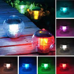 Luminaria LED Solar Lights Lamp Outdoor ,Solar Power LED Floating Pond Pool Light Lighting Luz Free Shipping(China (Mainland))