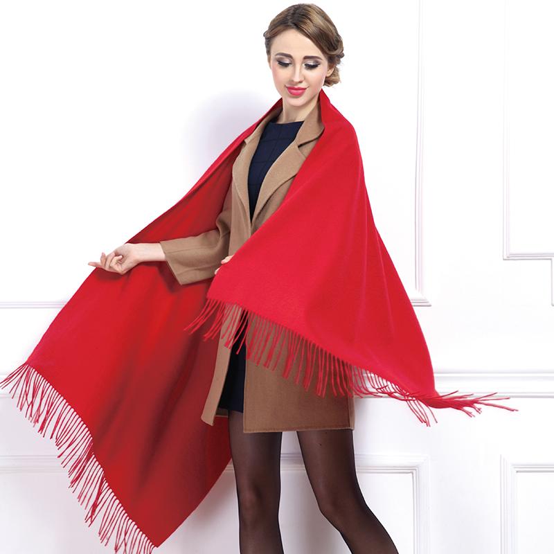2015 Women 100% Pure Cashmere Classic Style Shawl Winter Warm Long Length Pashmina Hot Fashion(China (Mainland))