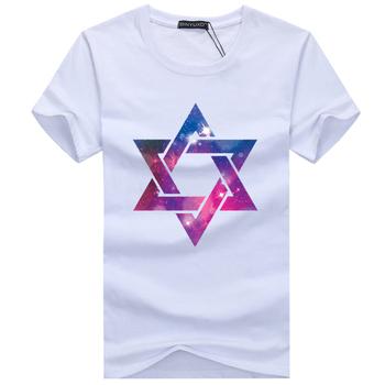 2016 New Hexagonal pattern Summer Brand T-shirt man round collar short sleeve fashion t shirt wholesale short sleeves