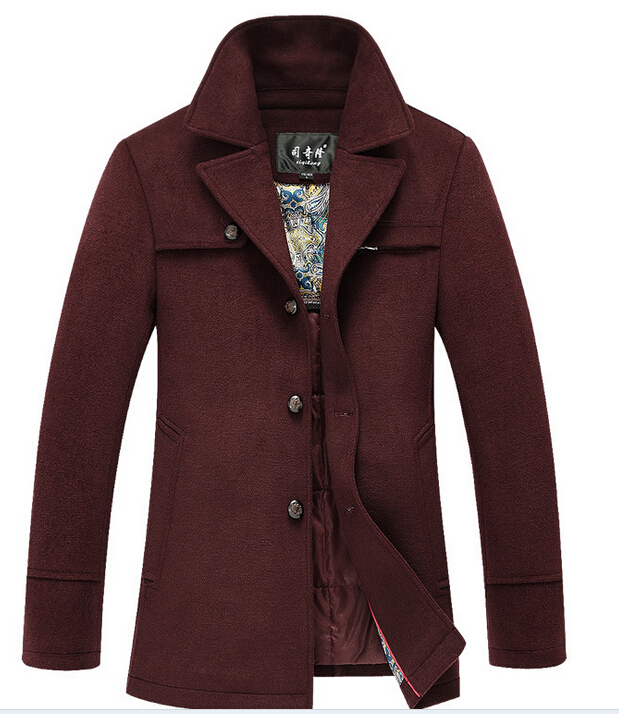 2015 Wool Blend And Brand Men Dress Suit Jacket Casual Jacket And Long Winter Wool Coat Thick Warm Coat For Men Nbz018(China (Mainland))