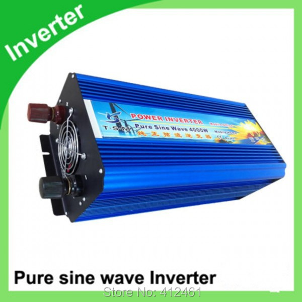 4000w inverseur sinusoidale pure DHL Or Fedex 4000W Pure Sine Wave Inverter 8000w peak For Wind and solar energy High Quality(China (Mainland))