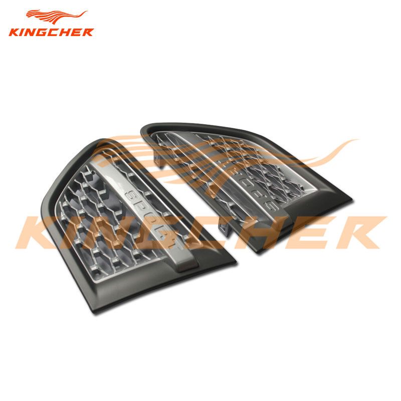 High quality Silver Gray side vent grille grill for Land Rover Range Rover Sport 2010 2011 2012(China (Mainland))