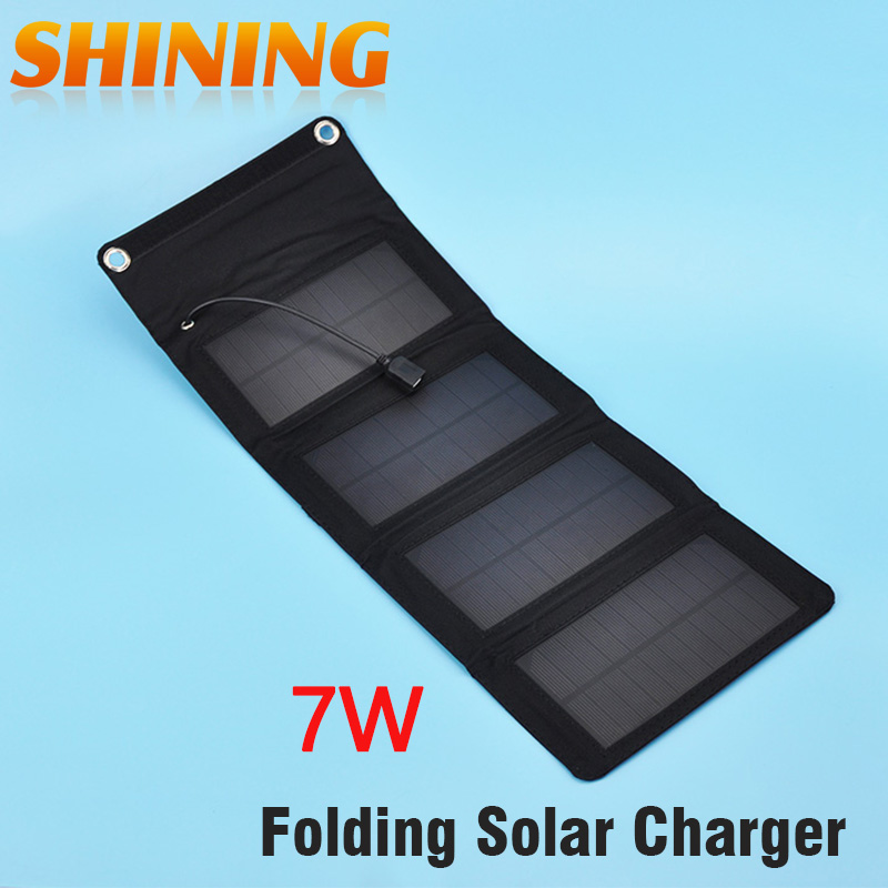 Universal 7W 5.5V Portable Folding Multi-Functional Solar Panel Battery & Mobile Phone Charger USB Output Camping Power Supply(China (Mainland))