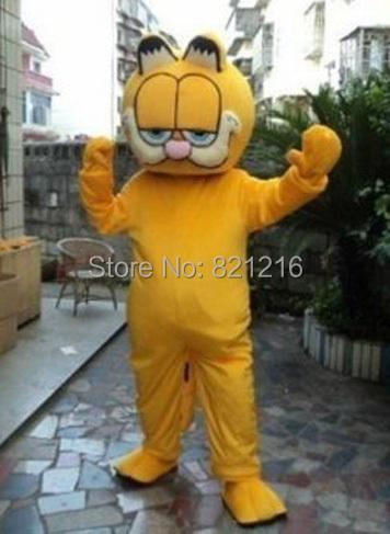 Cheap Animal Garfield Cat Mascot Costume Fancy Dress Adult Size(China (Mainland))