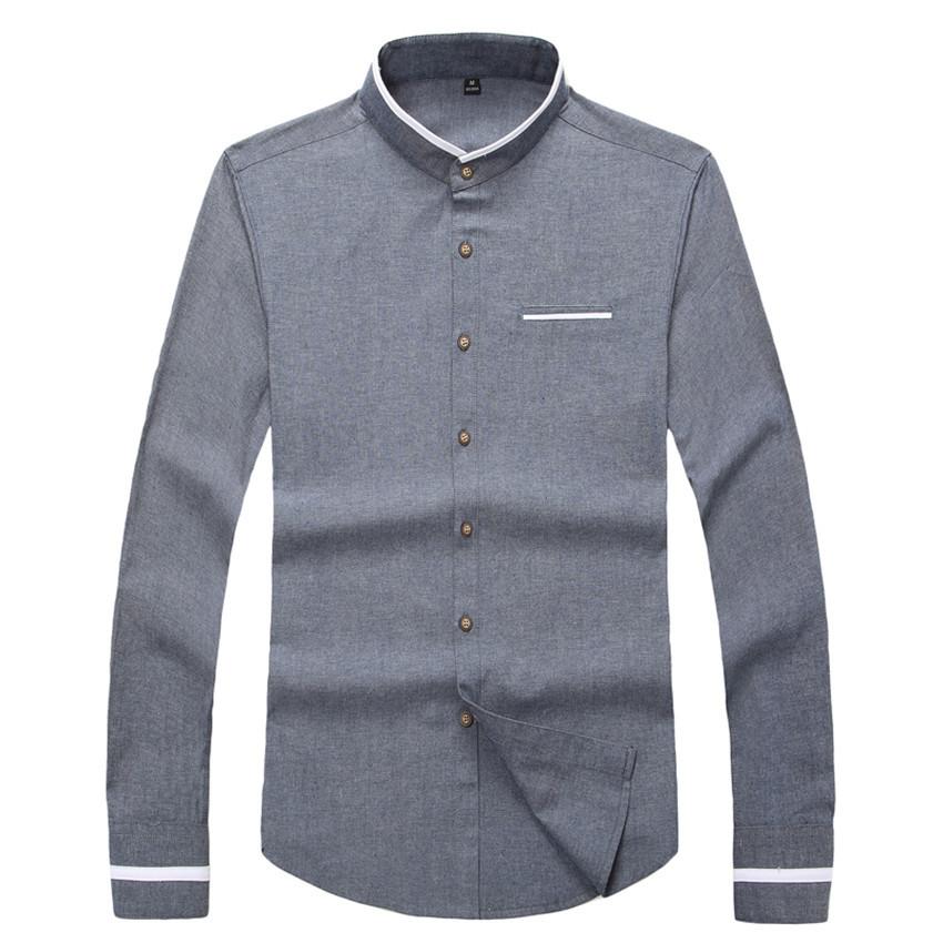 2016 Hot Sale Spring Casual Shirt Men Dress Men Shirt Slim Long Sleeve Collar Mens Shirts Brand-Clothing Plus Size 5XL(China (Mainland))