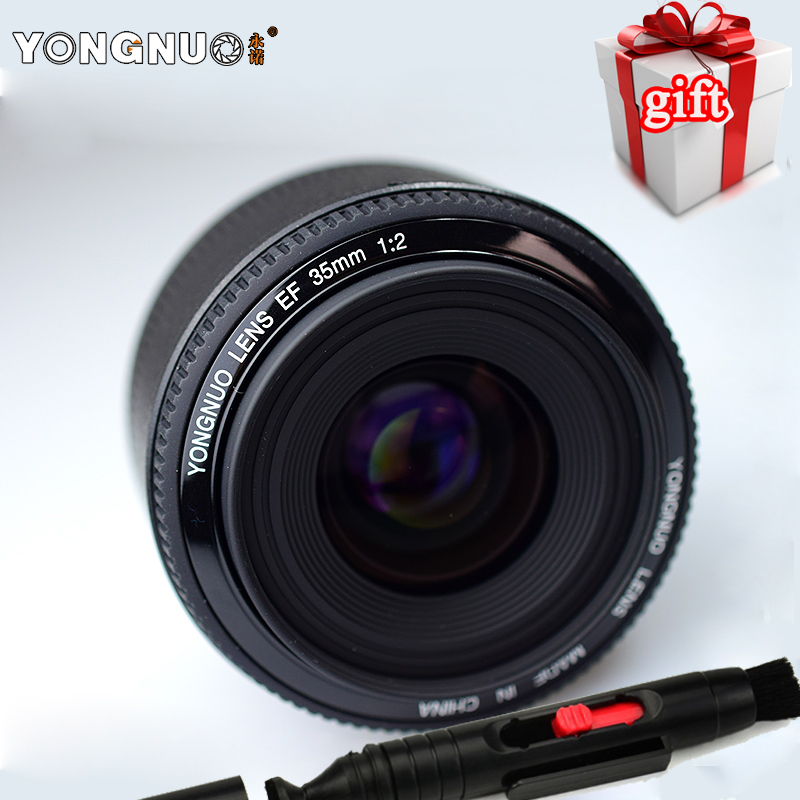 New YONGNUO 35mm Lens YN35mm F2 Lens 1 2 AF MF Wide Angle Fixed Prime Auto