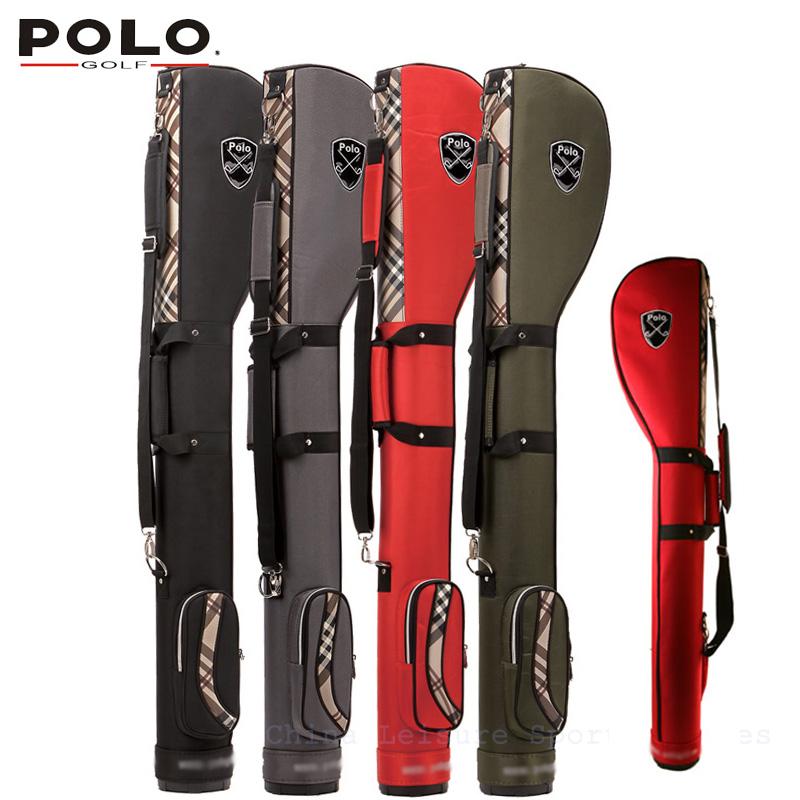 POLO New Style High Quality Golf Pistol Bag Golf gun bags PU waterproof men travelling cover 8-9 clubs 123cm golf  port bag<br><br>Aliexpress
