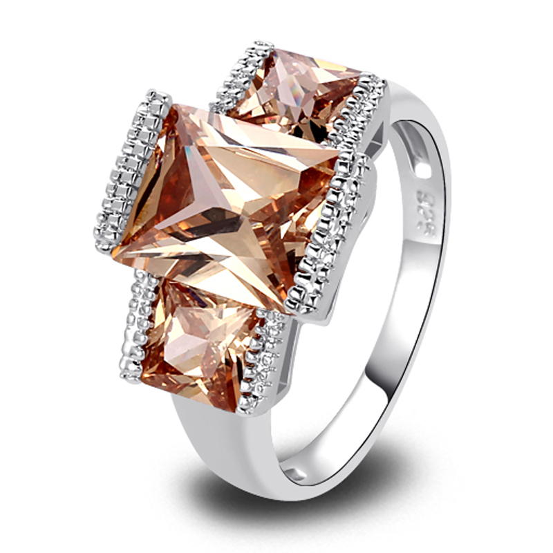 Aliexpress Buy Wholesale Stylish Elegant Emerald Cut Morganite 925 Silv