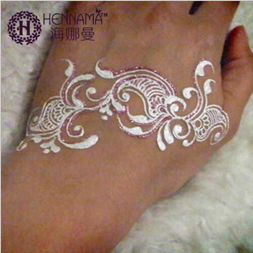 Mehndi Henna Powder : Indian henna paste metallic silver white glitter mehndi