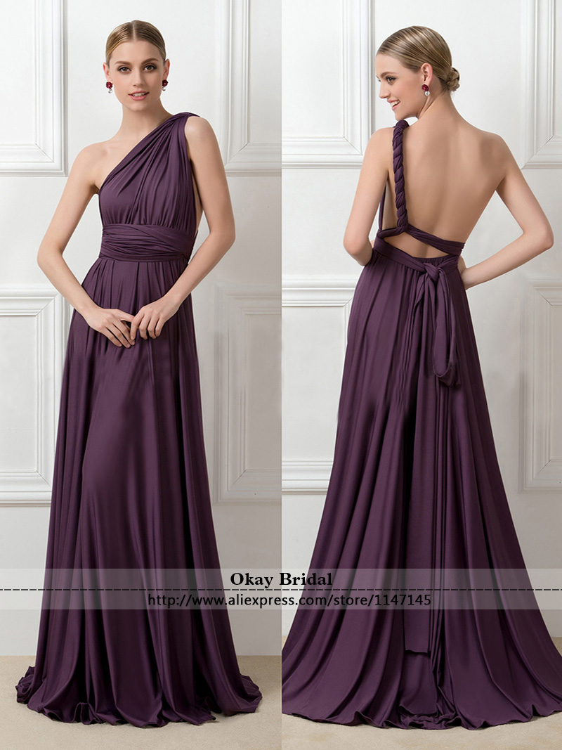 Wedding Guest Dresses Plus Size Summer : Long purple chiffon bridesmaid dresses pleated cheap