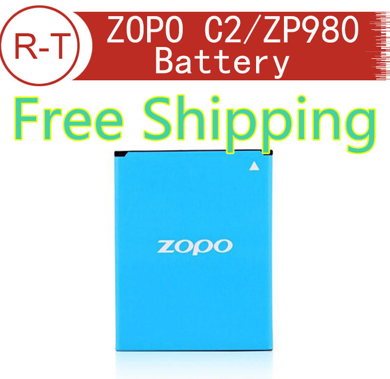 ZOPO C2 Battery Repalcement 100% Original 2000mAh Li-ion Battery Replacement For ZOPO ZP980 ZP980+ Zopo C2 zopo C3 Smart Phone