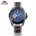 TEVISE 2017 Watches Steel Strip Men Automatic Mechanical Watches Fashion Three Watches Business Simple Relogio Masculino