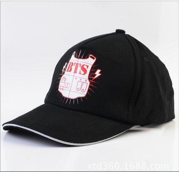 Bts children kpop Bangtan logo baseball cap hat official version K-Pop group who BTS Benn hip hop cap female male hat sunhat(China (Mainland))