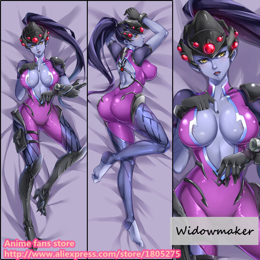 Hot Online Game OW Widowmaker Japanese Pillowcase Pillow Cover Case Home decorative Hugging Body Bedding - Anime fans store