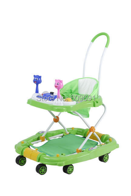cheap plastic baby walker, functional big wheels rolling handle walker/carrier - Yiwu Fanhai E-C Firm store