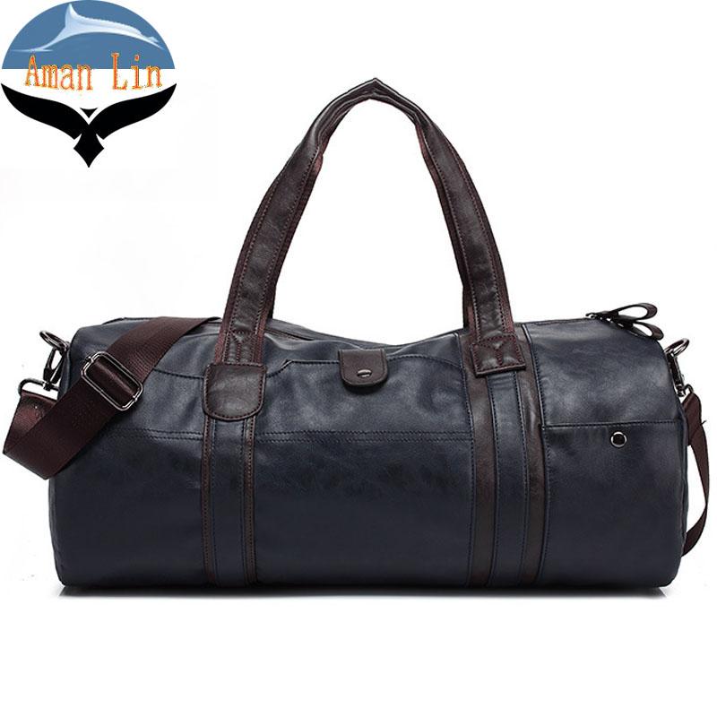 Luxury First Layer Cowskin Men's Travel Bags Genuine Leather Handbags Big Men Business Luggage Bag Shoulder Restoring