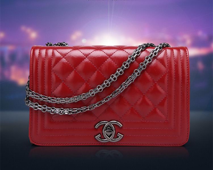 New fashion classic handbags luxury brand diamond lattice Lingge chain bag Shoulder bags Messenger bag high quality(China (Mainland))
