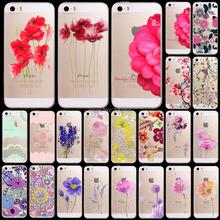 Телефон чехол для iPhone 5 5S мягкий sillicon прозрачные красивые ярких цветов живопись разработанный вернуться чехол защитные сумки