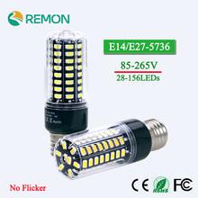 Buy LED Corn Bulb light High Lumen 5736 SMD E27 E14 3.5W 5W 7W 8W 12W 15W 85V-265V Flicker 28 40 72 108 132 156 LEDs Bulbs for $2.49 in AliExpress store