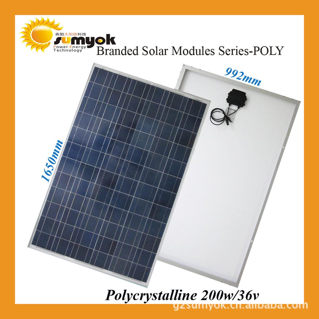 Solar cell photovoltaic solar energy and Guangzhou Senyang 200W- polysilicon(China (Mainland))