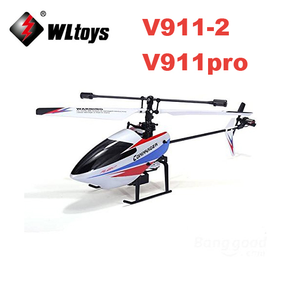 Original Package WLtoys V911 V2 V911-2 4-Channel 2.4GHz Rechargeable Helicopter Remote Control Airplanes with Gyro<br><br>Aliexpress