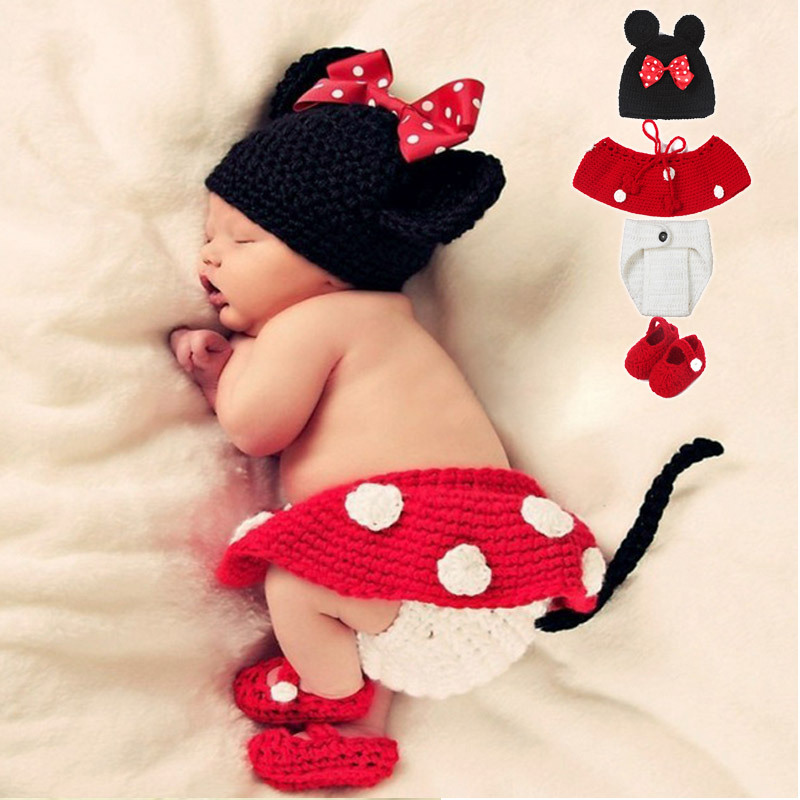2016 Cute Newborn Baby Photography Props Costume Baby Clothes Sets Handmade Crochet Hat Shorts Shoes Cartoon Baby Photo Props(China (Mainland))