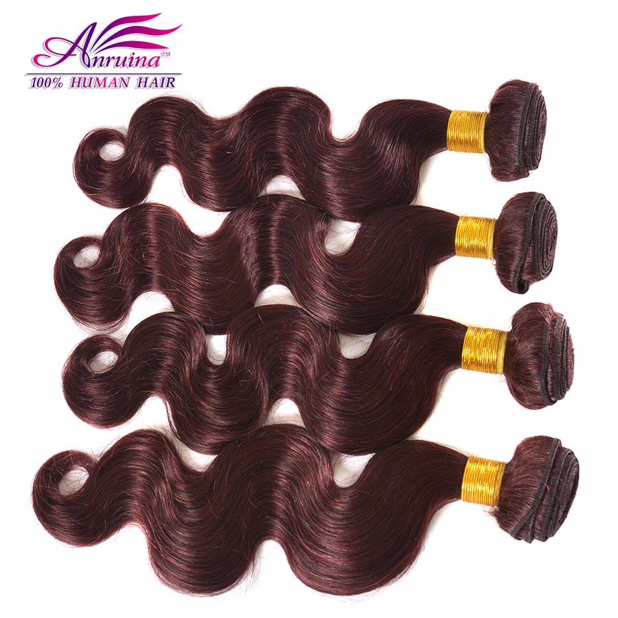 Burgundy Peruvian  Body Wave Virgin Hair Weave Grade 7A Wine  Red 99j body wave  Bundles 3Pcs Lot Remy Human Hair Extensions