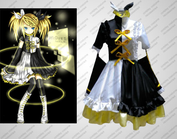 Japan Anime Vocaloid Hatsune Miku RIN&amp;LEN Melt Down Hard R.K. Mix Party Dress Cosplay Costume CustomizedОдежда и ак�е��уары<br><br><br>Aliexpress