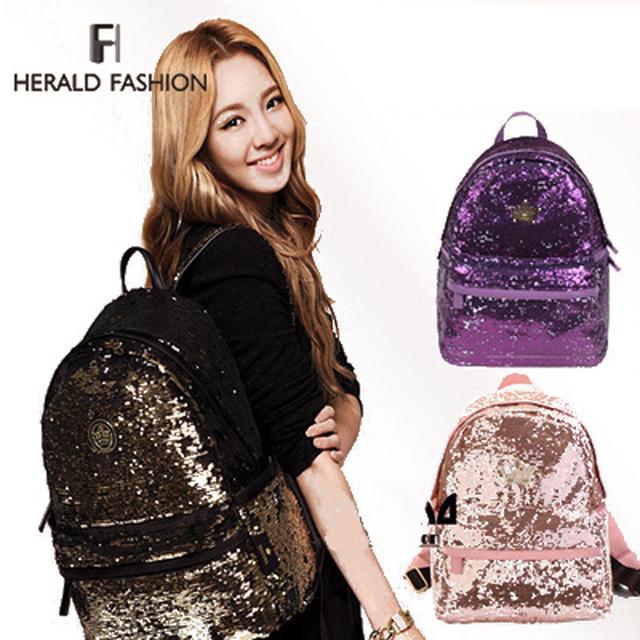 Новый 2014 свободного покроя женские красочные холст рюкзаки леди студенческая школа дорожные сумки Mochila женщины сумка блестка шику мешок