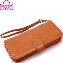 Buy Magic Fish wallet women dollar price leather purse high money bag wallets brands zipper purse female bag pouch LS4304mf for $8.49 in AliExpress store