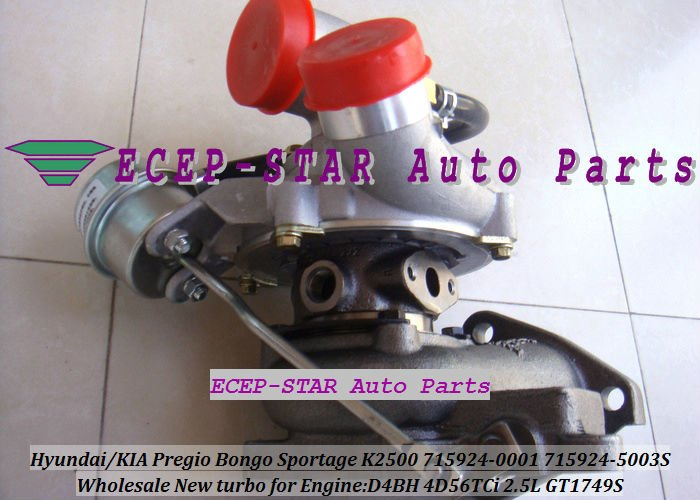 Воздухозаборник ECEP-STAR 715924/0001 28200/42610 GT1749S KIA Pregio Sportage K2500/HYUNDAI 1 /h/100 D4BH 4D56TCi 2,5 turbo cartridge chra gt1749s 28200 42560 716938 716938 5001s for hyundai starex h1 h 1 light truck d4bh 4d56t 2 5l turbocharger