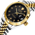 New Top Brand Mechanical Men Wristwatches Hollow Auto Date Man Original Watches Bussiness Stainless Steel Waterproof