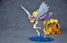 Anime Figure 25CM Digimon Adventure Digital Monster Yagami Hikari & Angewomon PVC Action Figure Collectible Model Toy Brinquedos