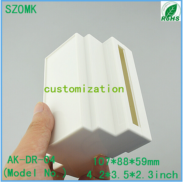 plastic distribution box electrical din rail enclosure (10 pcs) 107*88*59mm plastic instrument enclosure box, PLC junction box(China (Mainland))