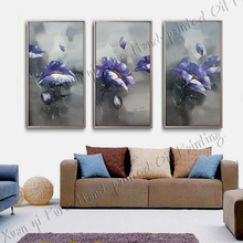 Hand-painted Oil Wall Art Home Decoration Modern Abstract fish Oil Painting On canvas 3 Piece Wall Painting(China (Mainland))