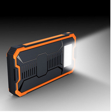2016 New Solar Power Bank 20000 mAh Energy Battery Charger Dual USB Polymer Powerbank Portable Charger With LED Camping Light