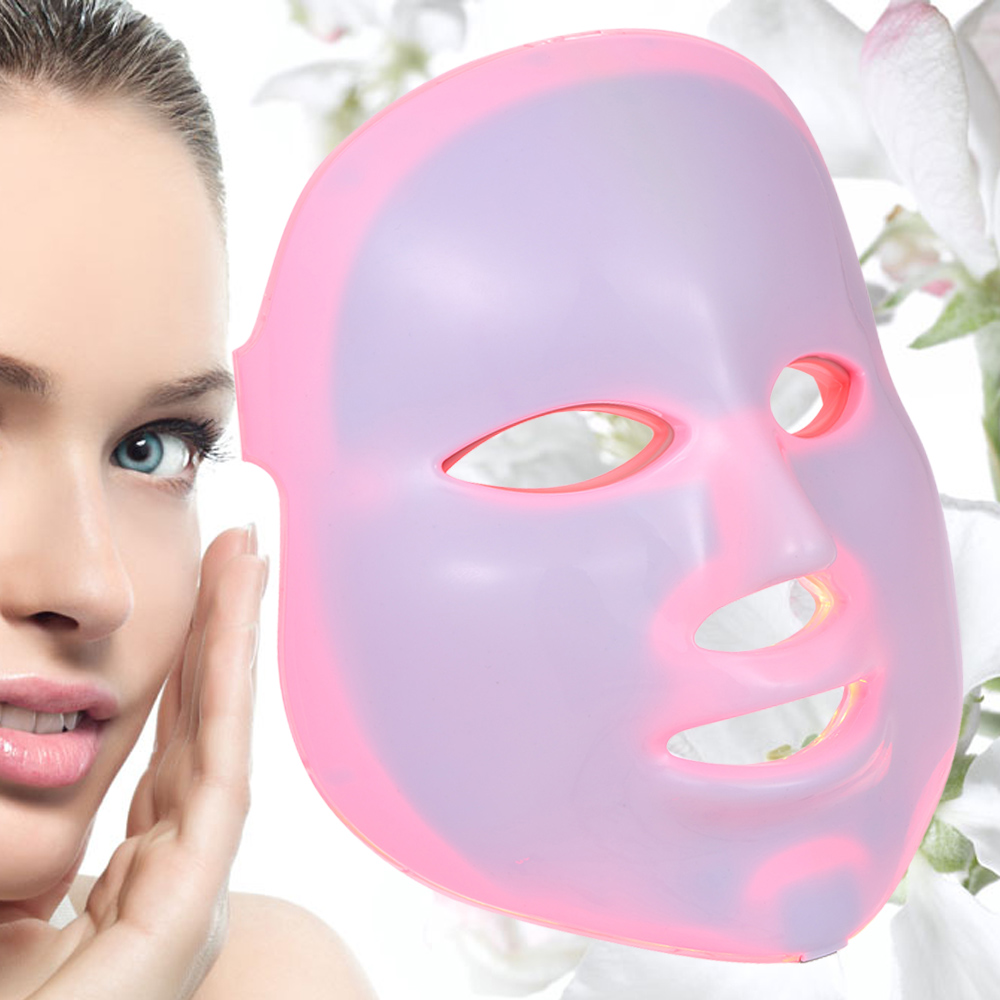 7 Colors Timing PDT Facial Skin Care Light LED Home Use Daily Photon Beauty Therapy Mask Lamp Anti-aging Acne Wrinkle(China (Mainland))