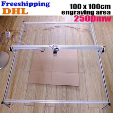Fancy laser carving 2500mw 100*100cm area mini DIY laser engraving machine/IC marking/laser printer/carving work Freeship by DHL