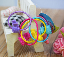Lot 25 Pcs Hairband Kids Elastic Hair bands Tie Elastic Children Rubber Carton Round Ball High