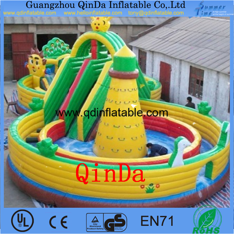 Children Inflatable Toys Kids Bouncer for Playground Cartoon inflatable playground,inflatable bounce castle(China (Mainland))