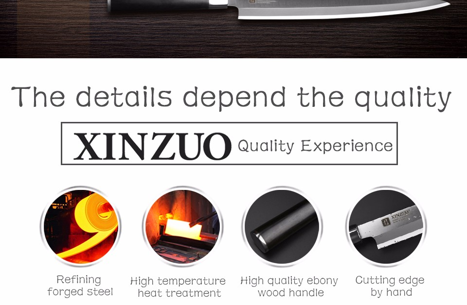 Buy XINZUO 12 inch sashimi knife with Scabbard Germany steel kitchen knives One-sided sushi knife Ebony G10 handle free shipping cheap