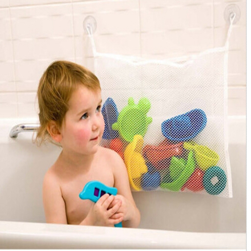 2016 hot selling kids baby bath tub toy tidy storage suction cup bag mesh bathroom organiser net. Black Bedroom Furniture Sets. Home Design Ideas