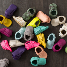 Free Shipping Tassels 42-Color Leather Baby Shoes 2016 Moccasin Newborn Shoes Infants Toddler Shoes Sneakers First Walker 2212(China (Mainland))