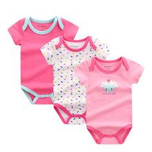 3 cái/lô Bé Bodysuits Baby Boy Quần Áo Cotton Cơ Thể Bebes Sơ Sinh Bé Trai Bé Gái Bodysuit Quần Áo Em Bé Set Áo Liền Quần(China)