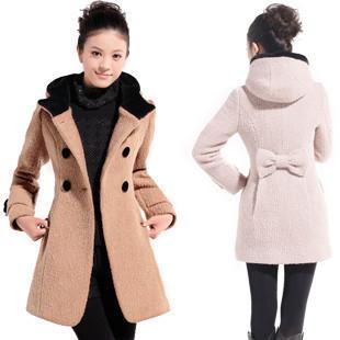 Free shipping 2013 hot-selling women's woolen outerwear gentlewomen slim medium-long sweet overcoat