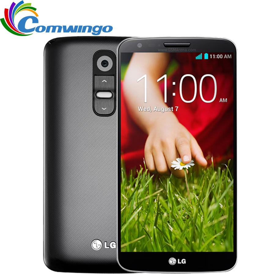 Original Unlocked LG G2 D800 D802 moblie Phone Quad Core 5.2'' 2G RAM 16GB ROM Qualcore13MP Camera WCDMA LTE NFC WIFI GPS(China (Mainland))