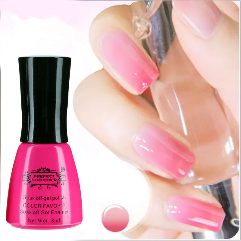 Perfect Summer Nail Gel Polish Temperature Change Color UV 8ml soak gel polish - Store store