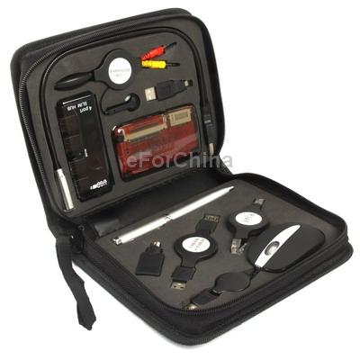 PC Portable USB Mouse Travel Cable Kit Bag Tools (HV-A13)(China (Mainland))