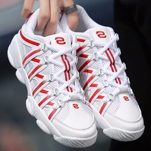Cool Stylish Breathable Mesh & Leather Patchwork Gym Shoes Mens Fitness Wedges Casual Shoes Comfortable Quality Spring Summer(China (Mainland))